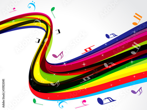 abstract colorful musical wave background
