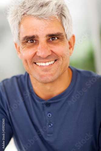 handsome mature man portrait
