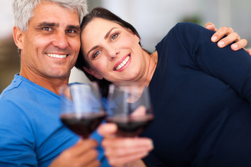 mature couple having good time