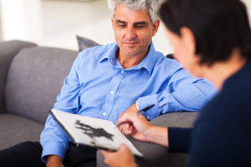middle aged man in session with therapist