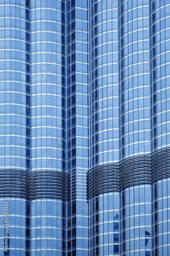 Closeup of building facade in  Dubai, UAE