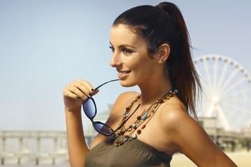 Summer portrait of attractive woman