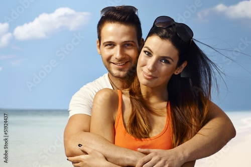 Loving couple on the beach