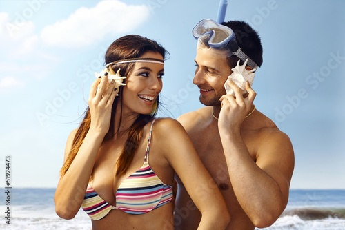Happy couple on summer holiday