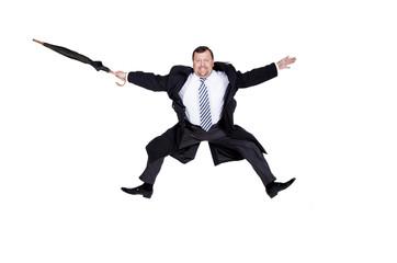 Happy boss flies