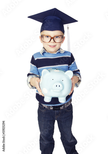 Boy preparing for College Savings Plan