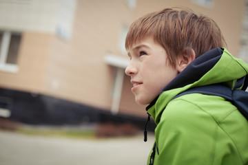 Portrait of sad teen, outdoor