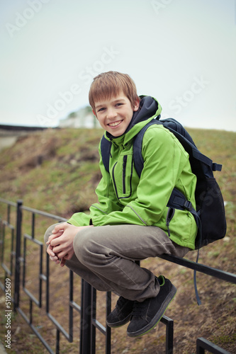 Portrait of teen, outdoor