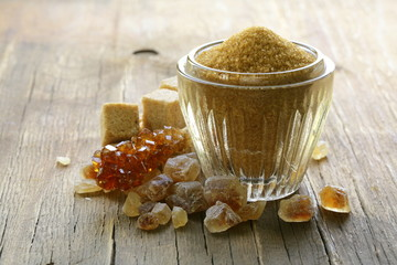 assorted brown sugar - sand, crystal and refined