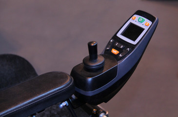 The Electric Controls of a Modern Disability Wheelchair.