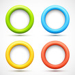 Set of colorful circle banners
