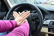 Beeping car driver