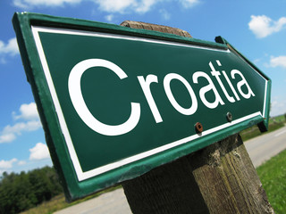 Croatia road sign