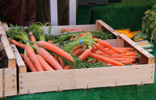 Fresh Carrots for Sale on a Market Stall.