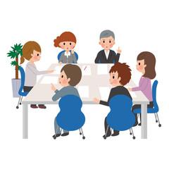 会議をする人物