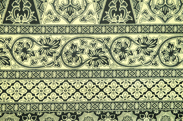 Traditional Batik Sarong Pattern Background