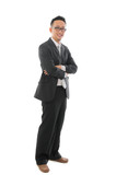 malaysian asian business man isolated on white background