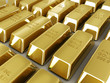 golden bars on white background