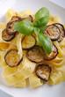 pappardelle all'uovo con zucchine fritte
