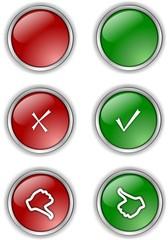 Check mark vector buttons