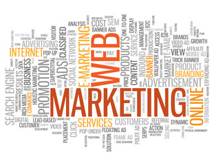 """WEB MARKETING"" Tag Cloud (e-marketing online viral advertising)"