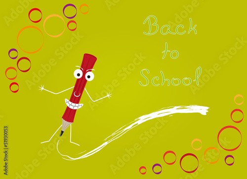 back to school with red pencil