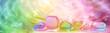 Leinwandbild Motiv Crystal Healing website banner head
