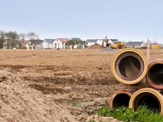Erschliessungsarbeiten für ein Neubaugebiet