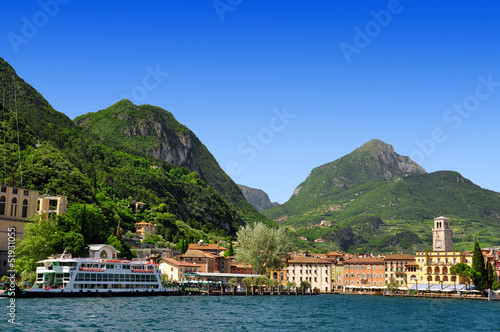 the city of Riva del Garda, Lago di Garda ,Italy