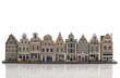 skyline from old amsterdam model houses