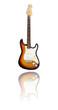 E-Gitarre mit Spiegelung, three tone sunburst