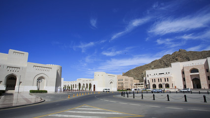Start of the Colonnade in Old Muscat