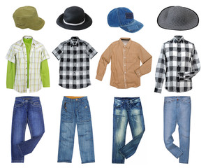 man's clothes collection
