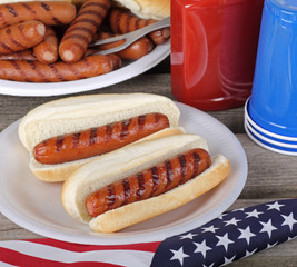 Holiday Picnic Hot Dogs