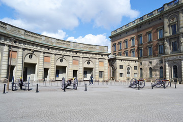 Royal palace in Stockholm, Sweden.