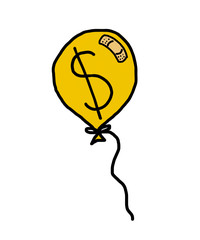 balloon with showing dollar