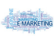 E-MARKETING Tag Cloud (online advertising e-business commerce)