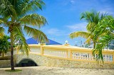 Beautiful stone bridge in Philipsburg, Saint Marteen, Caribbean