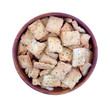 Naan Baked Bread Crackers Top View