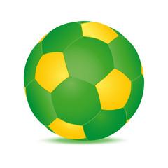 ballon football vert jaune