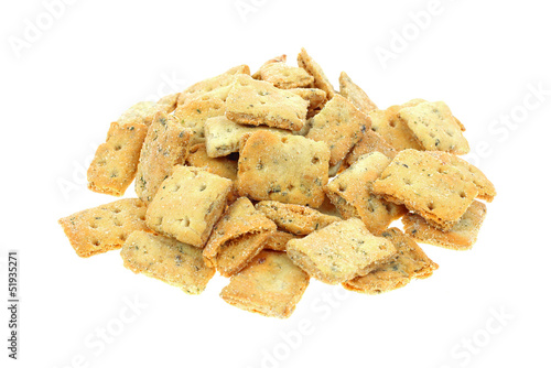 Naan Baked Bread Crackers Stack