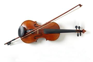 Liegende Geige von oben gesehen