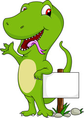 funny crocodile cartoon with blank sign