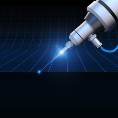 Laser wire concept background 3D