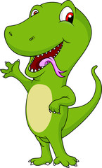 funny crocodile cartoon waving