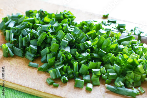 Fresh organicgreen onion