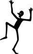 Silhouette Dancing Stick Man