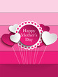 Happy Mother Day Heart Tag Bac...