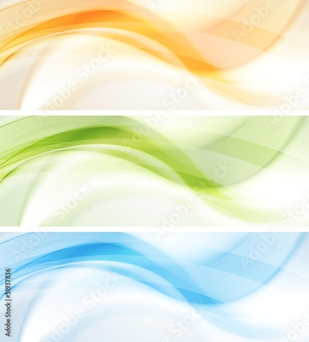 Colourful waves vector banners