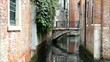 Small channel with bridge in Venice